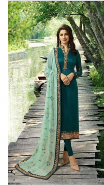Teal Churidar Suit